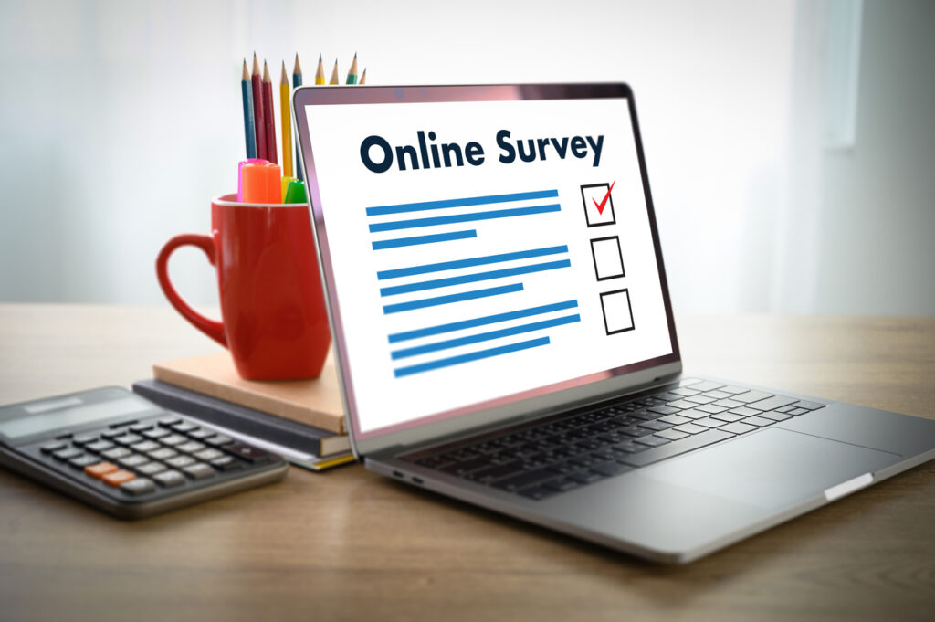 businessman SURVEY and Results Analysis Discovery Customer Experience Concept